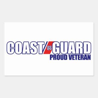 Veterano orgulloso del guardacostas etiqueta