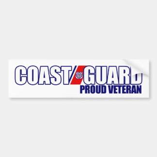 Veterano orgulloso del guardacostas pegatina para auto