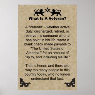¿Veterano? Posters