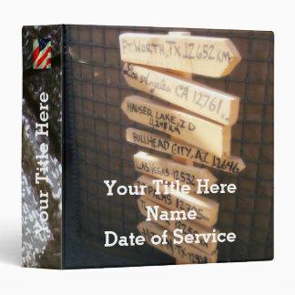 "Veterano (personalizado) carpeta 1 1/2"""
