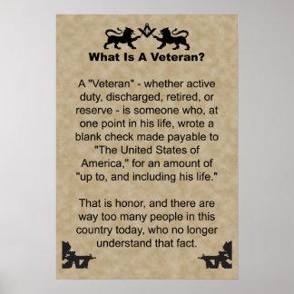 Veterano Póster