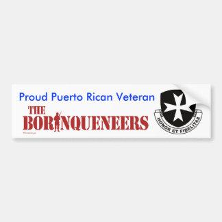 Veterano puertorriqueño - pegatina para el paracho pegatina de parachoque