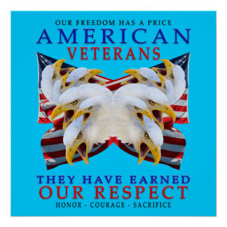 Veteranos americanos impresiones