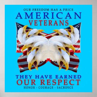 Veteranos americanos póster