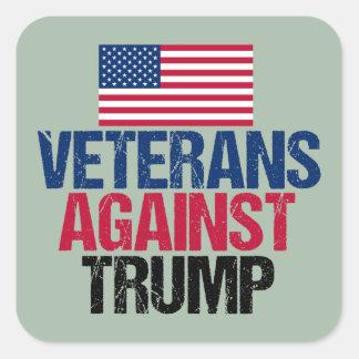 Veteranos contra el triunfo pegatina cuadrada