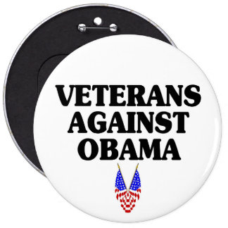 Veteranos contra Obama Pin Redondo 15 Cm