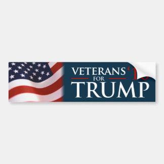 Veteranos de Donald Trump para el parachoque del Pegatina Para Auto