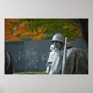 Veteranos de Guerra de Corea conmemorativos Póster