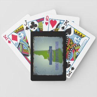 Veteranos de la infantería del combate de los naip baraja cartas de poker