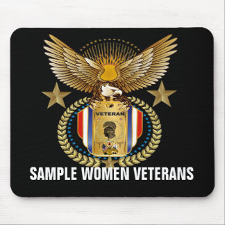 Veteranos de las mujeres alfombrilla de ratones