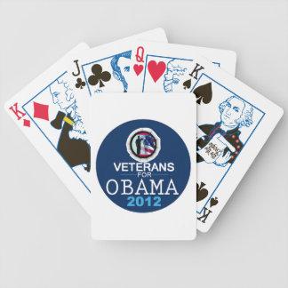 VETERANOS de Obama Baraja De Cartas