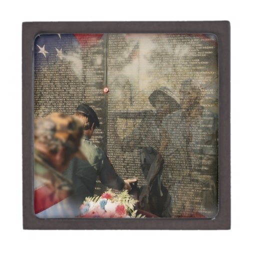 Veteranos de Vietnam conmemorativos Caja De Joyas De Calidad