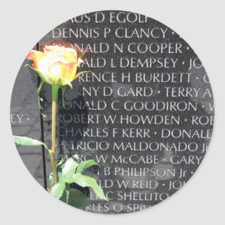 veteranos de Vietnam conmemorativos Pegatina Redonda