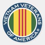 Veteranos de Vietnam de América pegatinas de 3 Pegatinas Redondas
