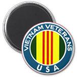 Veteranos de Vietnam de los E.E.U.U. Imán Redondo 5 Cm
