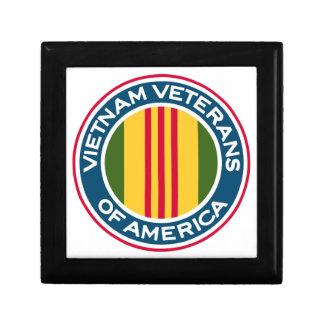 Veteranos de Vietnam del logotipo de América Cajas De Joyas