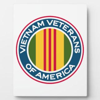 Veteranos de Vietnam del logotipo de América Placas De Madera