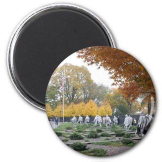 Veteranos del monumento de Guerra de Corea Imán Redondo 5 Cm