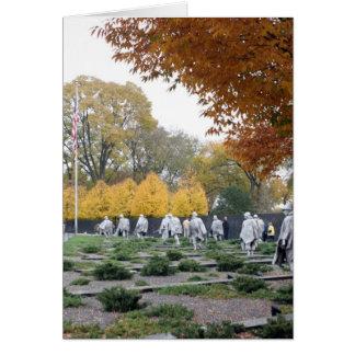 Veteranos del monumento de Guerra de Corea Tarjetón