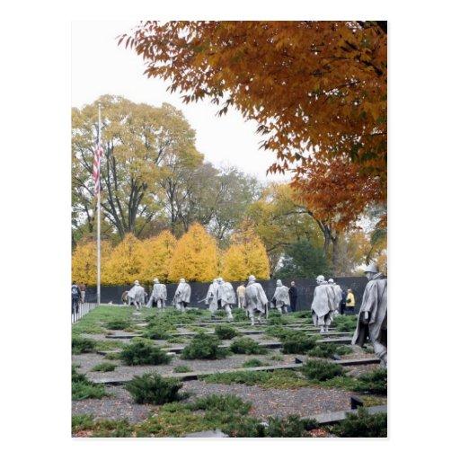 Veteranos del monumento de Guerra de Corea Postales
