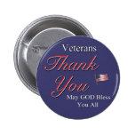 Veteranos, gracias, pin