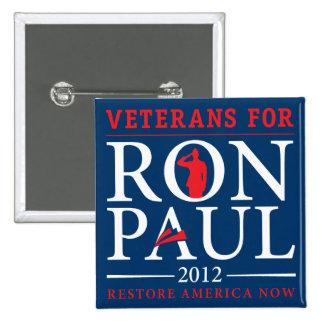 Veteranos para el botón retro de Ron Paul
