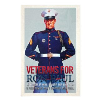 "Veteranos para los aviadores de Ron Paul Folleto 5.5"" X 8.5"""