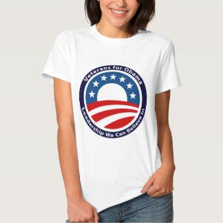 veteranos para obama playera