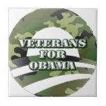 Veteranos para Obama Tejas Cerámicas