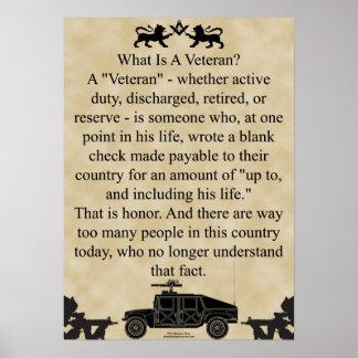Veteranos universales del albañil póster