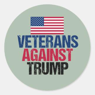 Veterans Against Trump Classic Round Sticker