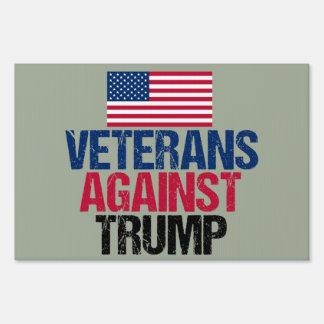 Veterans Against Trump Lawn Sign