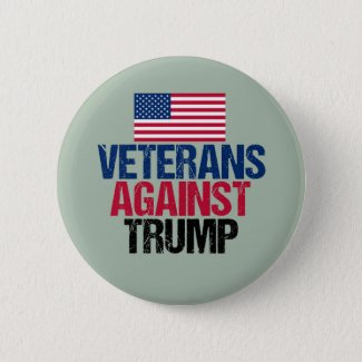 Veterans Against Trump Pinback Button