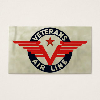 VETERANS AIRLINE. BUSINESS CARD
