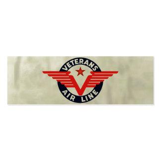 VETERANS AIRLINE. MINI BUSINESS CARD