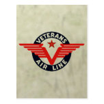 VETERANS AIRLINE. POST CARD