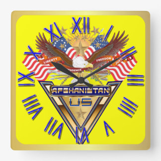 Veterans All Afghanistan New View notes please Square Wall Clock