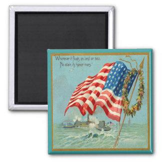 Veterans & American Flag Magnet