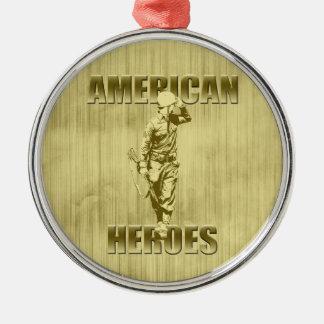 Veterans are American Heroes Metal Ornament