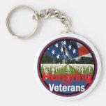 Veterans Basic Round Button Keychain