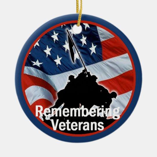 Veterans Ceramic Ornament
