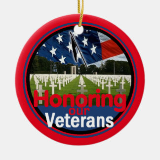 Veterans Ceramic Ornament