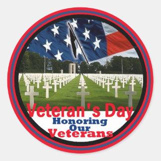 Veterans Classic Round Sticker