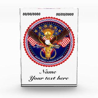 Veterans Customize Edit & Change background color Award