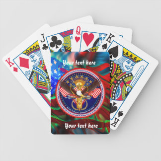 Veterans Customize Edit & Change background color Bicycle Playing Cards