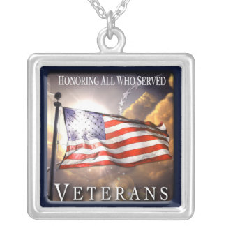 Veterans Day 2007 Sterling Silver Plated Necklace