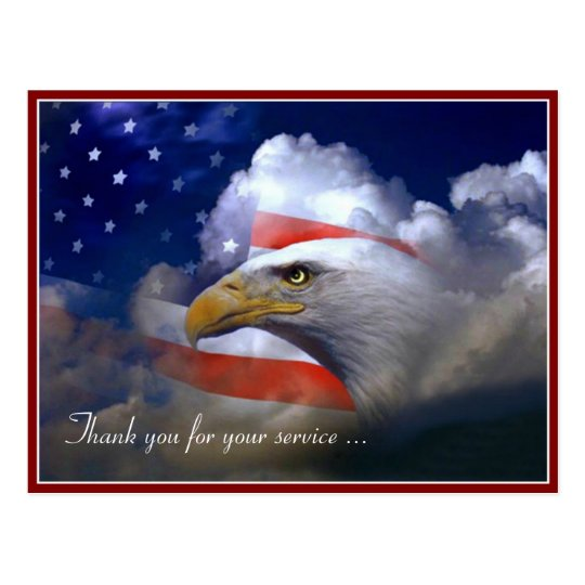 Veterans Day American Flag And Eagle Postcard Zazzlecom