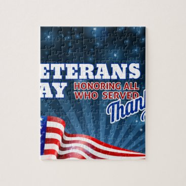 Veterans Day Background American Flag Design Jigsaw Puzzle