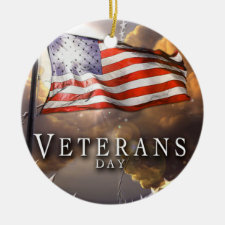 Veterans Day Christmas Tree Ornament