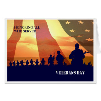 Veterans Day Custom Greeting Cards